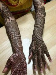 Winter Bridal Mehndi Ideas Fashion 2015-16 8
