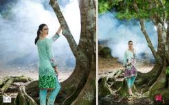 2 Piece Embroidered Linen Kurtis By Al Zohaib Textiles 2016 7