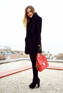 Black Tights Winter Outfits Trends For Women