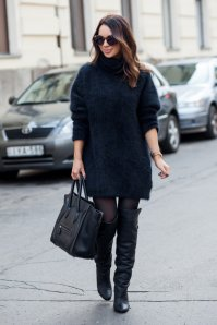 Black Tights Winter Outfits Trends For Women 10