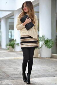 Black Tights Winter Outfits Trends For Women 3