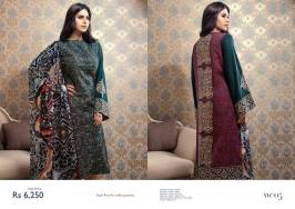 Chiffon Linen Winter Collection By Resham Ghar 2015-16 2