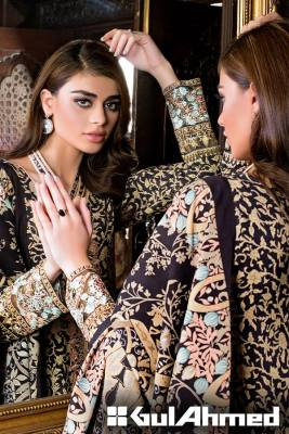Embroidered Linen Gul Ahmed Collection 2015-16