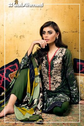 Embroidered Linen Gul Ahmed Collection 2015-16 3