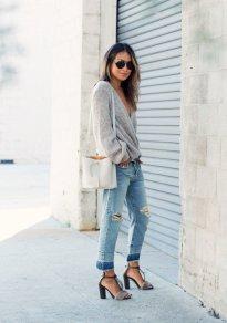 Gray Dark Shades Winter Outfits Women Street Style 2015-16 10