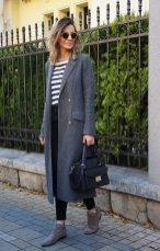 Gray Dark Shades Winter Outfits Women Street Style 2015-16