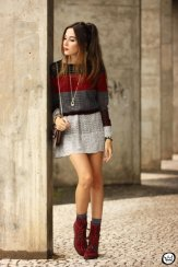 Gray Dark Shades Winter Outfits Women Street Style 2015-16 6