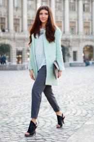 Gray Dark Shades Winter Outfits Women Street Style 2015-16 8