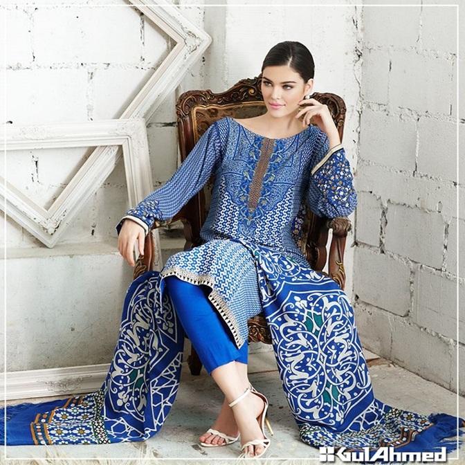 Gul Ahmed winter dresses