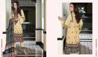 Linen Embroidered Casual Dresses By Firdous Cloth Mills 2015-16 12