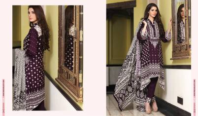 Linen Embroidered Casual Dresses By Firdous Cloth Mills 2015-16 7