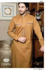 Men Plain Shalwar Kameez By Chawla Fabrics 2016 4