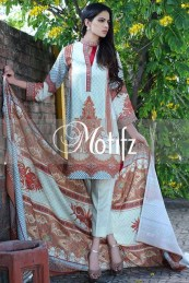 Printed Karandi Winter Collection By Motifz 2015-16