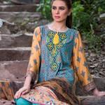 Three Piece Winter Shalwar Kameez By Pareesa 2015-16 7