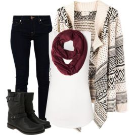 casual warm winter items
