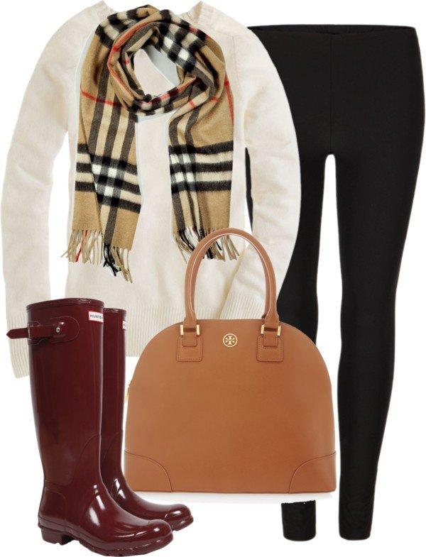 warm winter clothing