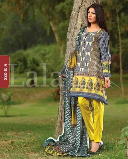 Winter Khaadi Printed Shalwar Kameez By Lala Textiles 2015-16 12