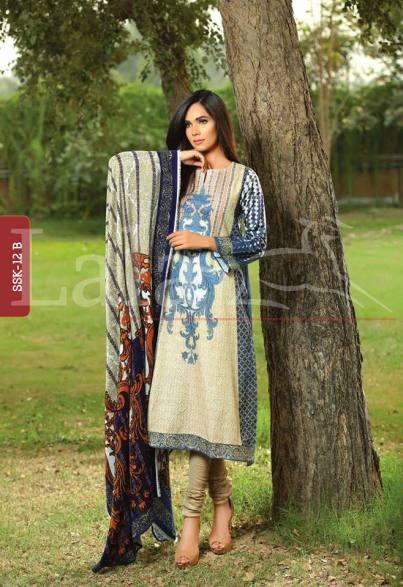 Printed winter shalwar kameez