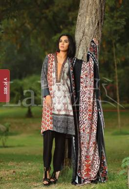 Winter Khaadi Printed Shalwar Kameez By Lala Textiles 2015-16 16