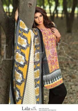 Winter Khaadi Printed Shalwar Kameez By Lala Textiles 2015-16 18