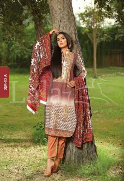 Winter Khaadi Printed Shalwar Kameez By Lala Textiles 2015-16 5