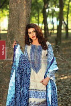 Winter Khaadi Printed Shalwar Kameez By Lala Textiles 2015-16 7