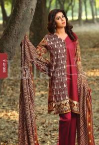 Winter Khaadi Printed Shalwar Kameez By Lala Textiles 2015-16 9
