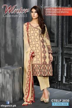 Elegance Winter Collection 2015 Women Shalwar Kameez