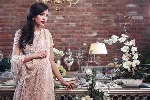 Embroidered Fabric Sarees Thredz & Motifz 2016 3