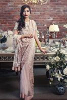 Embroidered Fabric Sarees Thredz & Motifz 2016 4