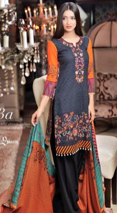 Khaddar Embroidered Winter Shawl Dresses Subhata Collection 2016 12