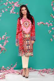 Linen Casual Winter Kurti Cross Stitch Collection 2016