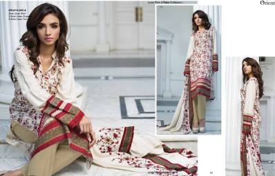 Linen Embroidered Dresses Orient Textile Collection 2016 13