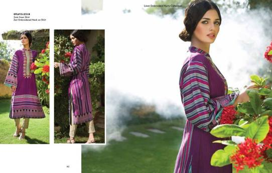 Linen Embroidered Dresses Orient Textile Collection 2016 14