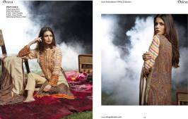 Linen Embroidered Dresses Orient Textile Collection 2016 27