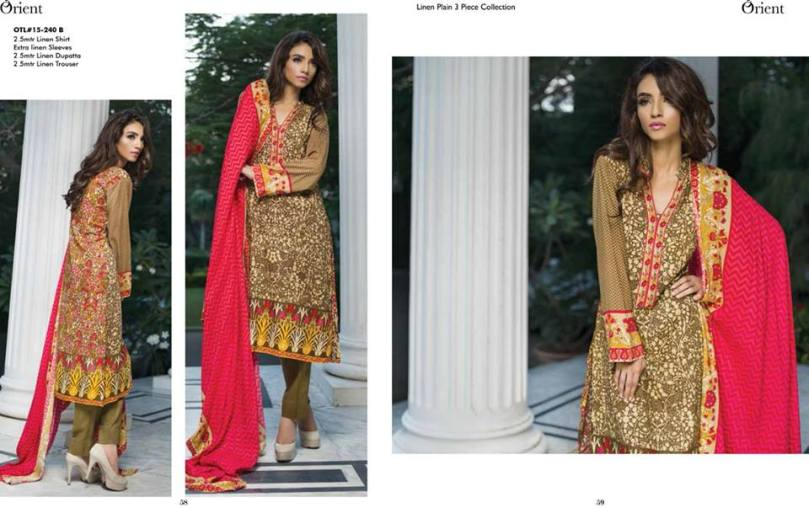 Linen Embroidered Dresses Orient Textile Collection 2016 28