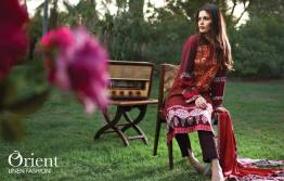 Linen Embroidered Dresses Orient Textile Collection 2016 7