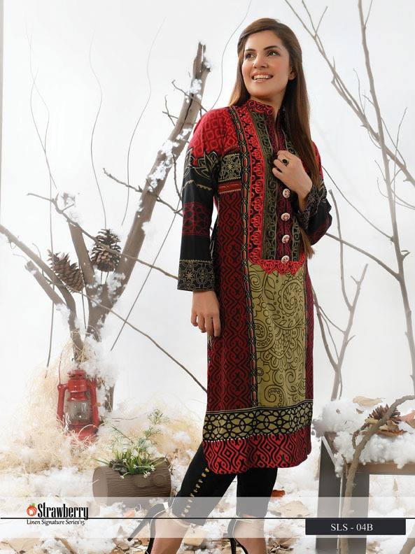 Embroidered kurti by Strawberry