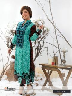 Linen Embroidered Kurtis Strawberry Collection 2016 123