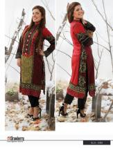Linen Embroidered Kurtis Strawberry Collection 2016 6