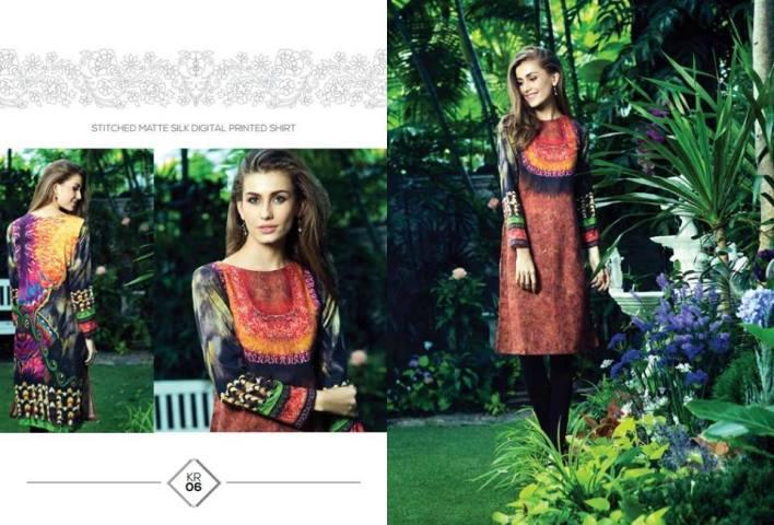 Silk khaddar dress