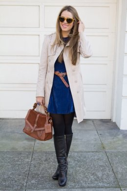 Women Velvet Dresses Winter Casual Street Style Looks 6