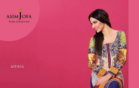 Asim Jofa Summer Tunics Luxury Collection 2016