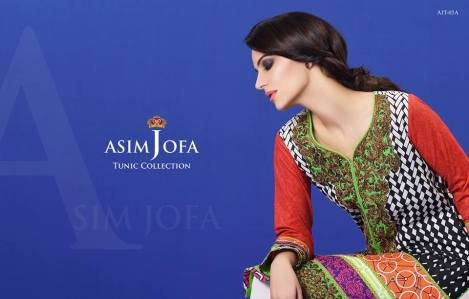 Asim Jofa Summer Tunics Luxury Collection 2016 12