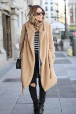Beige Coat Styles Women Should Try In Cold Days 4