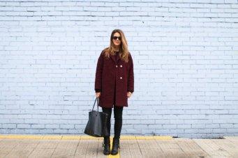 Burgundy Coat Designs Women Should Try This Season 6