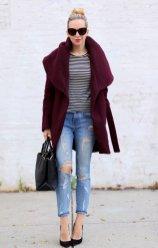 Burgundy Coat Designs Women Should Try This Season 7