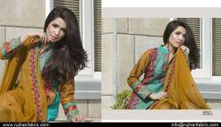 Cambric Embroidered Spring Collection Rujhan Fabrics 2016 5