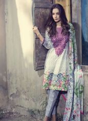Fancy Embroidered Party Wear Gulaal Collection 2016 4