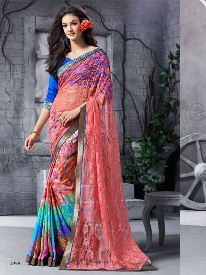 Georgette Silk Saree Collection Natasha Couture 2016 6